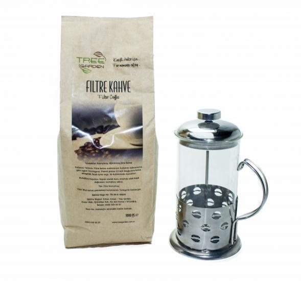 TREE GARDEN FİLTRE KAHVE 1 KG + FRENCH PRESS